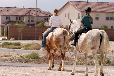 Shannon and Natalie head out for a ride