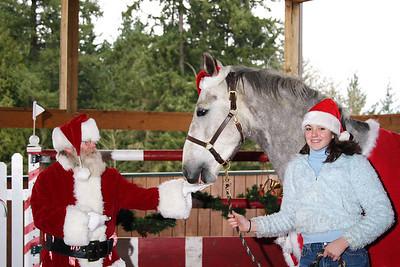 Harvey gets a treat from Santa
