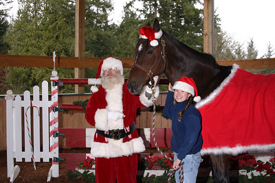 Santa, Caddy and Hayley