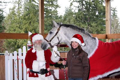 Santa, Ellie and Debbie