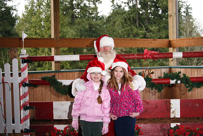 Natalie and Ariel with Santa