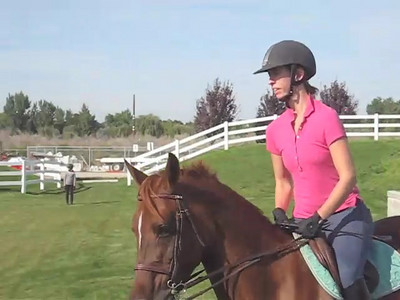 Video: Elise, Natalie and Memo play on the X-C banks at the Idaho Horse Park.