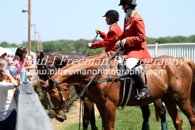215_#FairHillSteeplechase_2 officials and spectators on fence