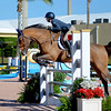 WEST PALM BEACH, FLORIDA - January 13, 2018: Madeline Lezotte and Lennox 324 competing at week 1 of the Winter Equestrian Festival in Wellington, Florida