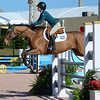 WEST PALM BEACH, FLORIDA - January 13, 2018: Sophia Kelly and Finnegan competing at week 1 of the Winter Equestrian Festival in Wellington, Florida