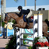 WEST PALM BEACH, FLORIDA - January 13, 2018: Vyla Carter and Naloubet competing at week 1 of the Winter Equestrian Festival in Wellington, Florida