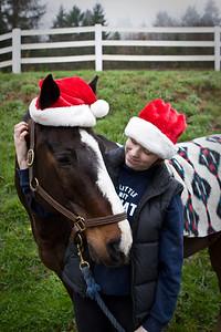 Santa Moose and Sarah