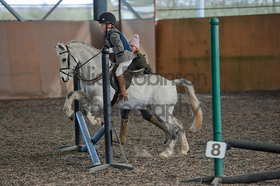 Welton District Riding club indoor showjumping  23 Feb 2014.
