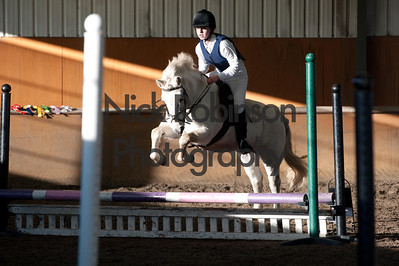 Class 1 Welton and District Winter showjumping.