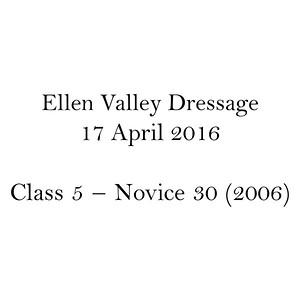 Class 5 – Novice 30 (2006)