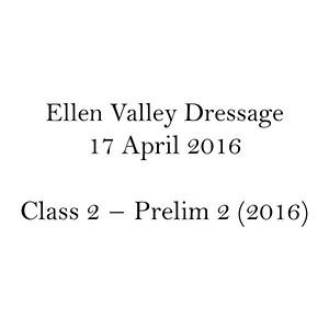 Class 2 – Prelim 2 (2016)