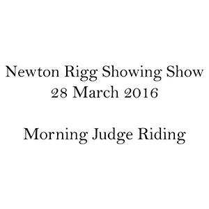 Morning Judge Riding