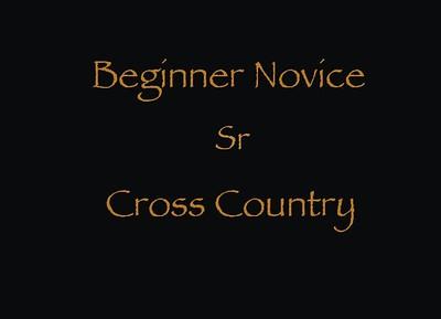 Beginner Novice Sr Cross Country