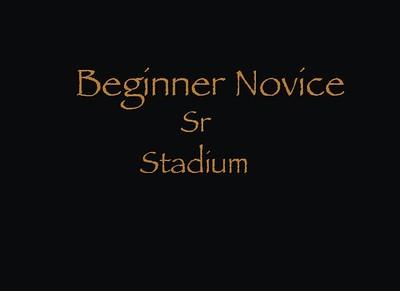 Beginner Novice Sr Stadium