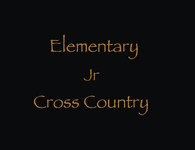 Elementary Jr Cross Country