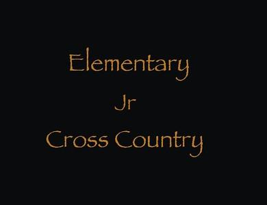 Elementary Jr Cross Country