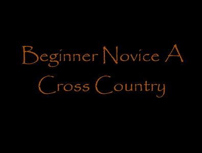 Beginner Novice Cross Country