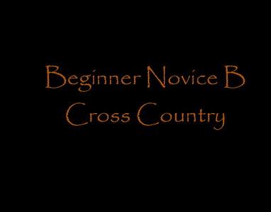 Beginner Novie B Cross Country