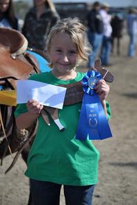 Winner of the 7 & Under Barrels Haley McNamar