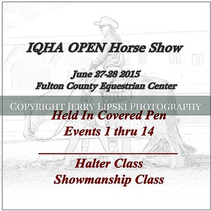 A Covered Pen  Halter and Showmanship   1 thru 14