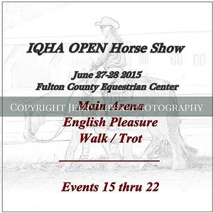 English Pleasure  Walk / Trot   15 thru 22