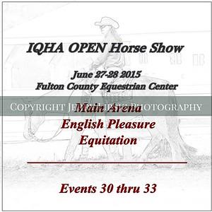 Open English Pleasure - Equitation  Events 30 thru 33