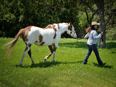 Isadora Rain Cruce with owner Neda DeMayo, President of Return to Freedom American Wild Horse Sanctuary in Lompoc, CA/