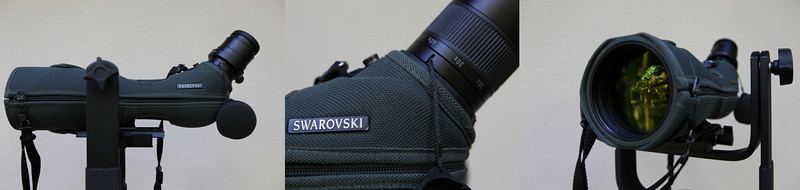 Swarovski Spotting Scope 80 HD<br /> with 20-60X eyepiece<br /> <br /> If you get serious with birding and you want to get really close to the birds then a spotting scope like this one is ideal. You first have to choose the brand. Then the size of the scope. Lastly the power of the eye piece. <br /> <br /> There are a few brands to choose from, Swarovski, Leica, Nikon and Kowa are reputable brands.   We have been able to use two brands extensively. The Leica and the Swarovski. They were both good but we liked the Swarovski more because it only has one ring for focusing. We also felt that the Swaro was slightly sharper. Maybe because it was a slightly newer model. There is always something new, and they usually keep getting better. <br /> <br /> You can choose two sizes for the body. A 60mm and an 80mm. The 80mm allows more light in so you get a brighter and sharper picture. The 60mm is smaller and lighter. <br /> <br /> For the eye piece there are three choices the 20-50x, a fixed 30x, and a 20-60x. We have the 20-60x. It works very well. <br /> <br /> The Swarovski is very well made. It is a quality item that is water proof. You need that when walking around the rainforests. But its always good to have a dry bag to cover up your scope if the weather turns bad. <br /> <br /> The cloth cover is optional and is a very good option to purchase. It provides additional protection from scratches and small bumps and is made very well. <br /> <br /> You will need a good tripod and a sturdy tripod head to keep your scope stable when you are viewing. We use the Manfrotto 393 head and the Manfrotto 055 Pro Carbon tripod for our spotting scope. <br /> <br /> We also have an attachment so we can connect our SLR with a 50mm lens to the eyepiece. A lot of people use their scopes to take pictures and videos. It is much lighter than using a super telephoto lens. So some people prefer it to carrying a heavy SLR lens.<br /> <br /> You don't need an SLR to take pictures with your scope.