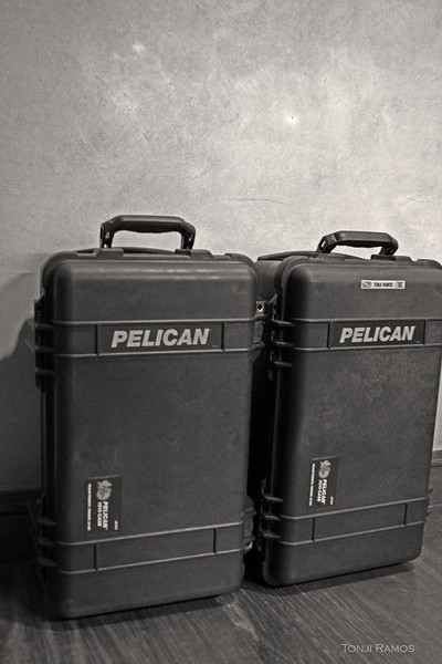 "Pelican 1510 Carry On Case<br /> <br /> Carrying photography gear thru the jungle, to a beach environment or even in an airport is always a challenge. There is no bag that does everything well. <br /> <br /> When we are going to shoot in an extreme environment, that is dirty and or wet, something that may need transport with a boat then these are the cases we use. These cases are 100% waterproof and are very tough. It can handle beach landings in a small boat, salt water or typhoon type strong rain. It is sand, mud and dust proof as well. Perfect for extreme environments.<br /> <br />  It is long enough to fit a 500mm f4 with a 1.4xtc and a camera body without dismantling. There are pockets on the cover that you can use to put batteries, CF cards and cables. With the 500mm rig complete there is enough space for flash, and smaller lens.<br /> <br /> This is an airline approved size. So you can carry it on the plane. It has wheels and a retractable handle so you can wheel it around the airport. <br /> <br /> Another advantage is that it is easy to clean. If you used a horse to carry your gear or you have lots of dirt on your bags, cleaning a soft bag is more difficult. These cases just need a quick wipe. <br /> <br /> For car transport it is also useful because everything is laid out neatly and organized. The cases also protect the gear when you are in a rough road and other items in the car may fall on your gear bags. <br /> <br /> The biggest negative of this case is the weight. Its around 11 to 13 pounds empty.  But if you want a 100% waterproof case, something that can actually float, this is a good choice for the bigger rigs. <br /> <br /> The second drawback is that for the size you could carry more things in a soft pack. <br /> <br /> Here are the dimensions that I got from their website:<br /> Exterior Dimensions<br /> (L x W x D)	 	<br /> 22.00"" x 13.81"" x 9.00""<br /> (55.9 x 35.1 x 22.9 cm)	 <br /> <br /> Interior Dimensions(L x W x D)<br /> 19.75"" x 11.00"" x 7.60""<br /> (50.1 x 27.9 x 19.3 cm)"