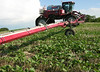 Miller Nitro sprayer stopped in soybean crop