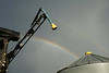 Wilmar sprayer boom, double rainbow overhead