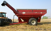Avonlea 1150 grain cart with 'Grain Storm' unload auger waiting to be loaded, near Portage la Prairie MB
