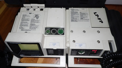 1997-1999 - Physio-Control Lifepak 11 EKG Monitor/Defibrillator/Pacer , our first 12 lead capable monitor.  We were part of a county pilot program for EMT-Basics applying and transmitting 12 leads to Medical Control.