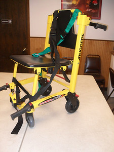 Mid 1990's-mid 2000's - Stryker stair chair used for carrying patients to the ambulance, particularly up and down stairs.