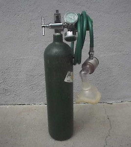 1978-1992 - Demand valve with oxygen tank.  They continued to be used by police sector cars until the late 1990's.