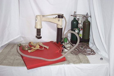 """1982-1997 - Thumper (CPR compressions/ventalations), which was powered by two """"E"""" size oxygen tanks."""