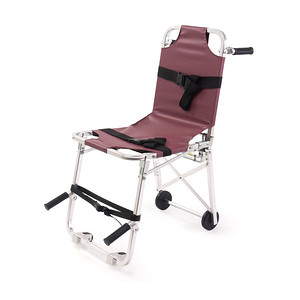 1978-mid 1990's - Ferno stair chair used for carrying patients to the ambulance, particularly up and down stairs.