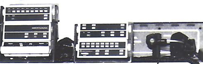 Late 1980's-mid 1994 - ALS communications system mounted in the ambulance utilizing radio medical channels 1 and 8.