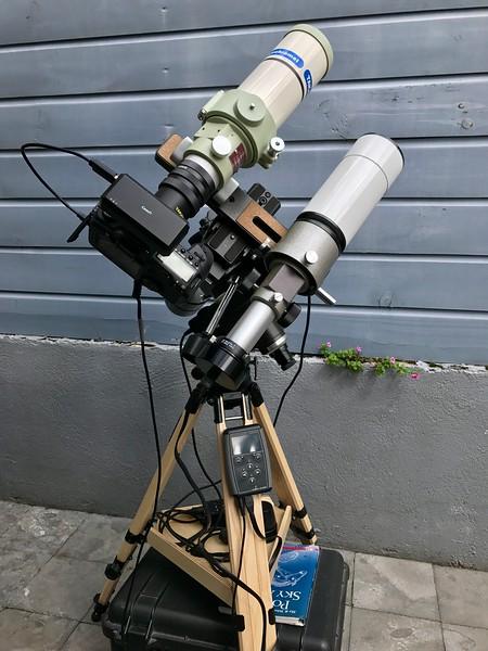 Vixen Super Polaris with Takahashi FS-60C and Vixen 70S