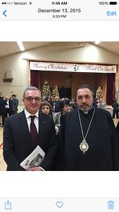 His Excellency Zohrab Mnatsakanyan with His Beatitude Archbishop Nourhan Manougian, Armenian Patriarch of Jerusalem