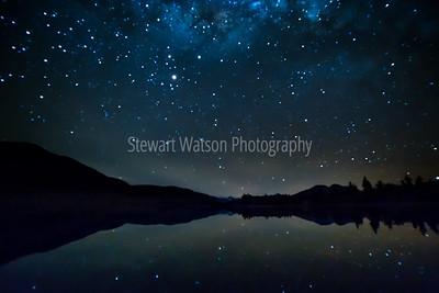 Lake Camp under the stars