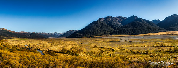 Glacial valley in the Ashburton highlands