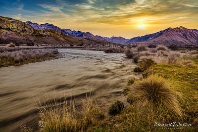 Meandering stream leading to Edoras, the capital of Rohan .