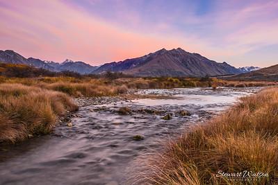 Mt Sunday stream at dawn