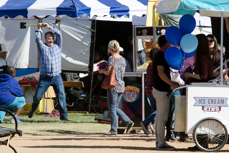 Eric Syonestreet and Jesse Tyler Ferguson films Modern Family