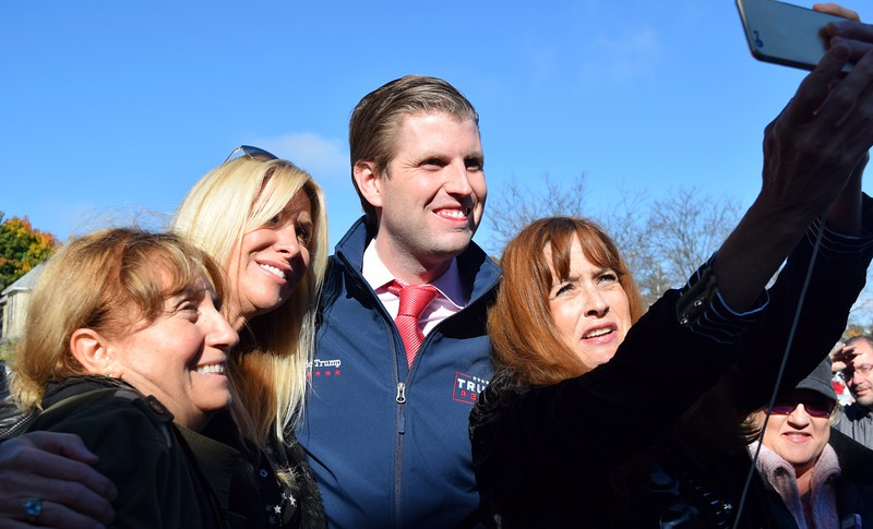 Eric Trump visits Pontiac, Walled Lake - JRC-Oakland