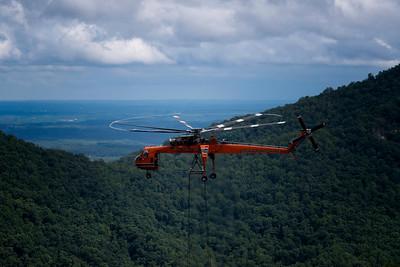 The Erickson Air-Crane making a heavy job look easy.