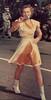 1951-Lead Majorette Ann Ensrud Rose Bowl Close up