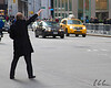 Man Hailing Taxi in New York City
