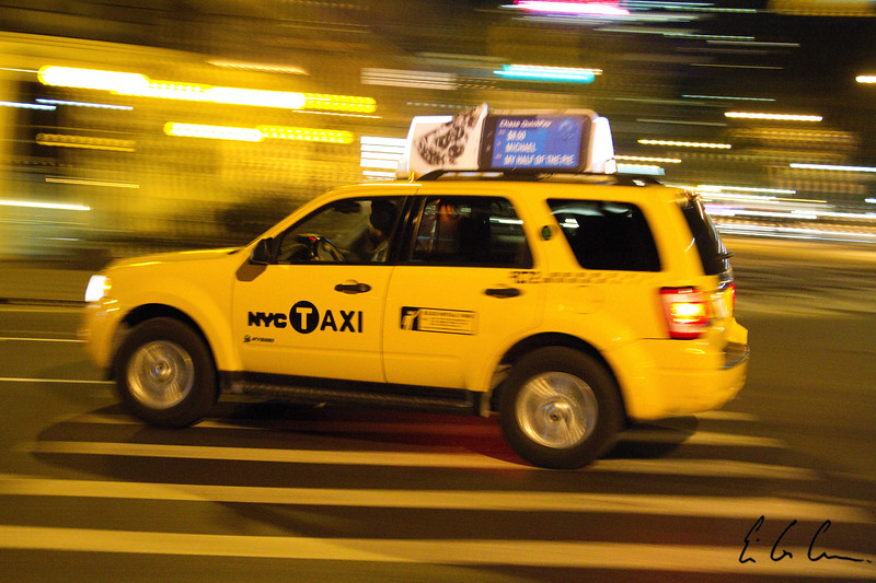 Taxi Cab in Manhattan